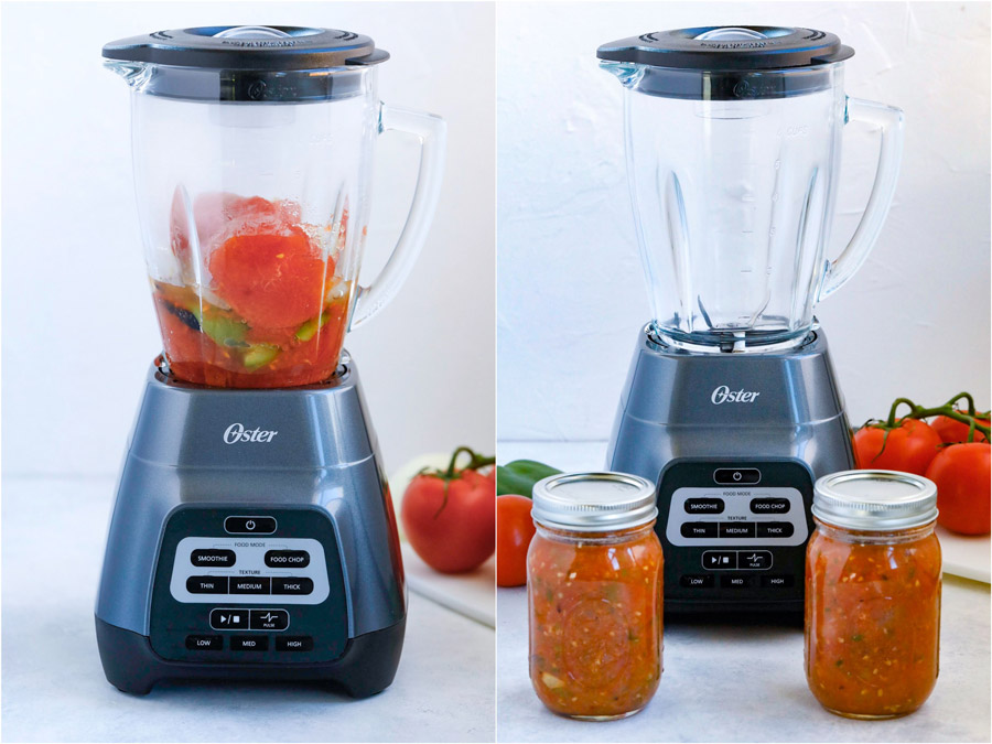 making salsa with oster blender