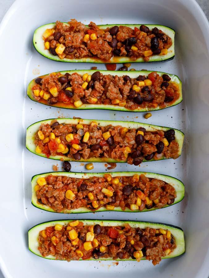 baked southwest zucchini