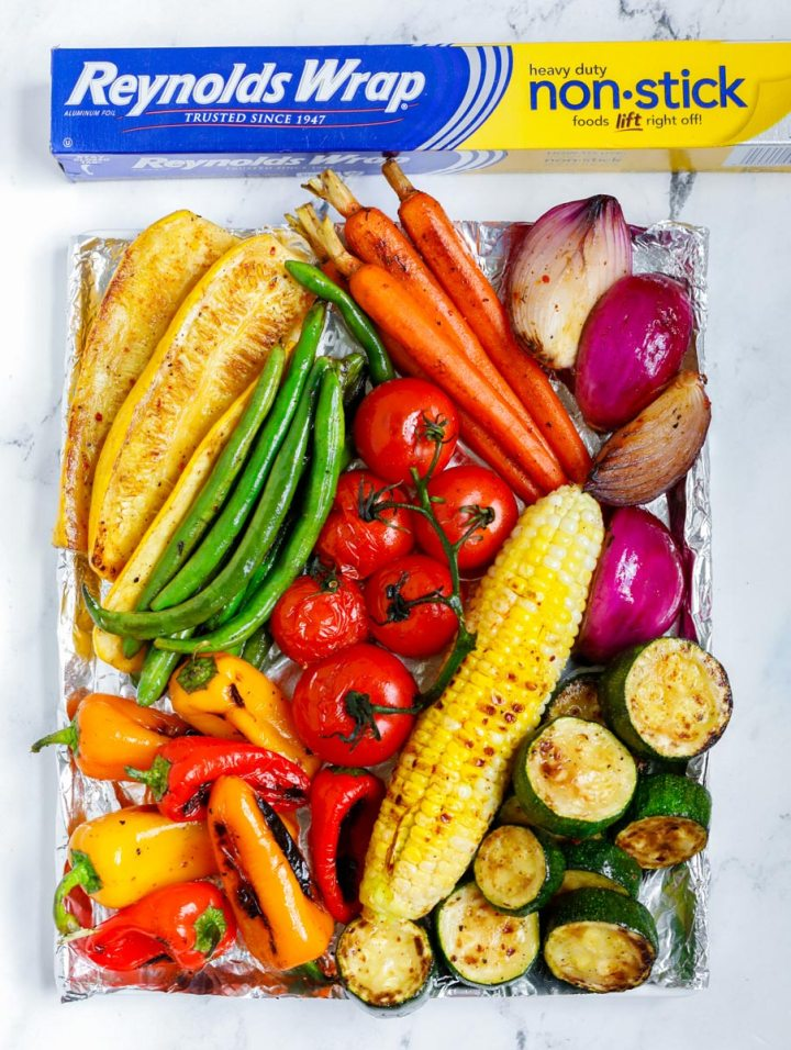 Best Grilled Vegetables on a tray