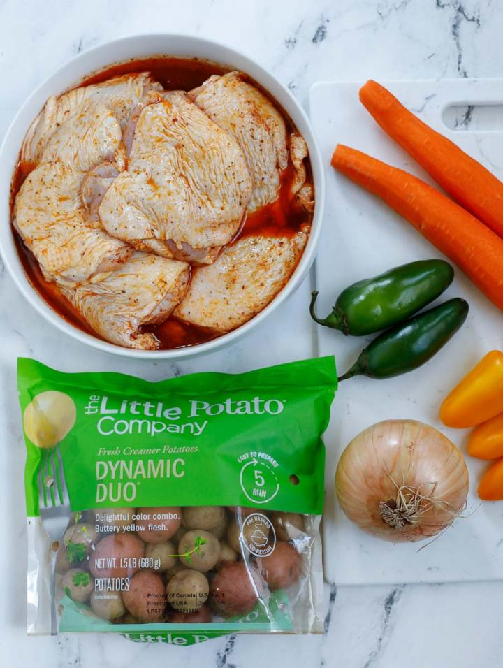 ingredients for Chicken and Potato Bake