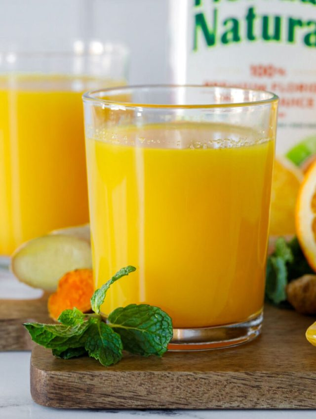 close up shot of the immune booster drink