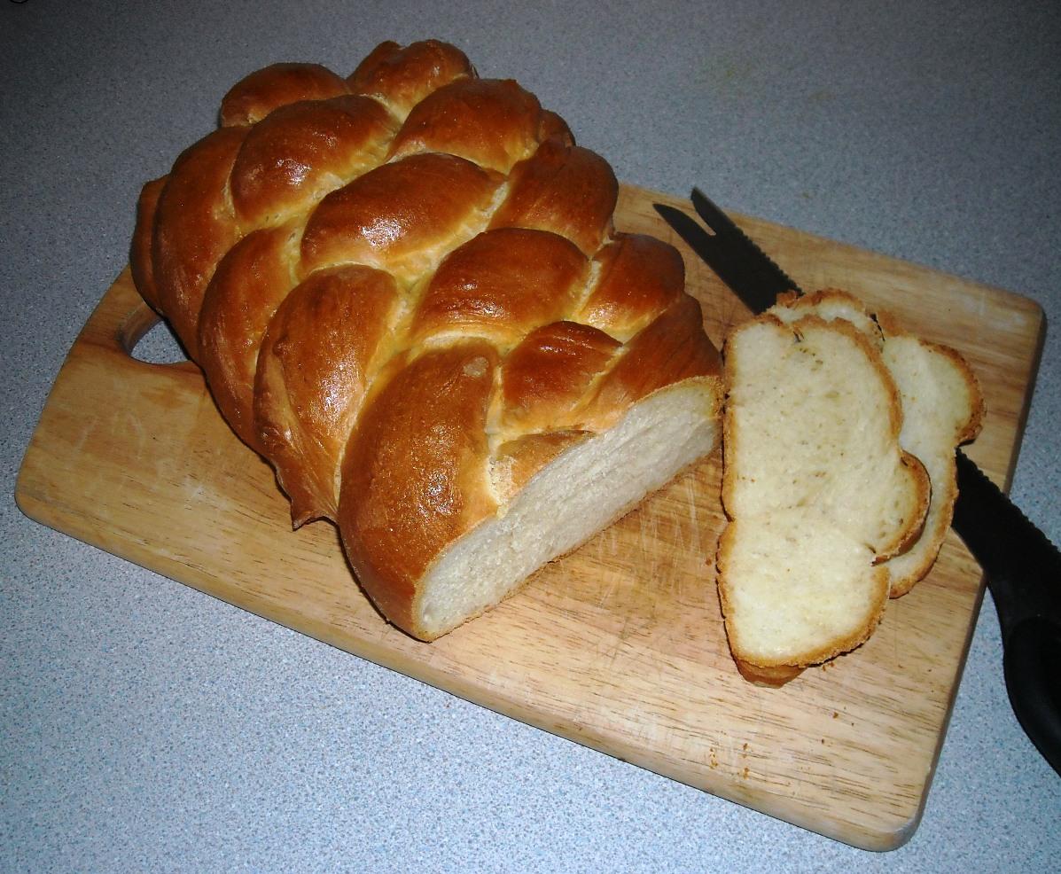 Plaited bread British recipe
