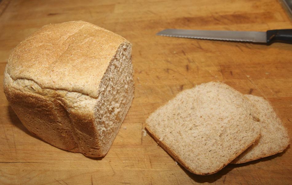 5050 Wholemealwhite flour loaf A Breadmaker recipe
