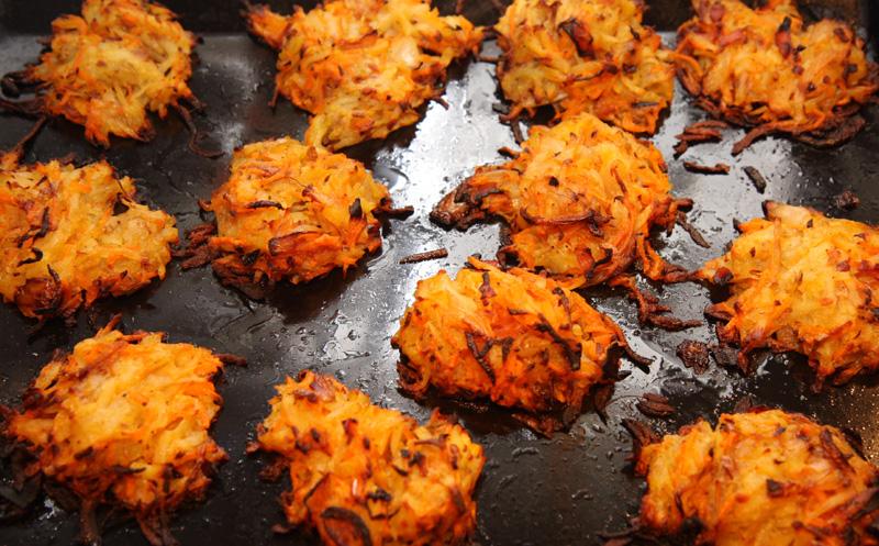 Carrot and potato rsti Vegetarian recipe