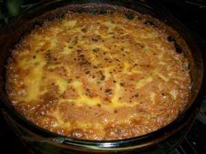 Oldfashioned rice pudding British recipe
