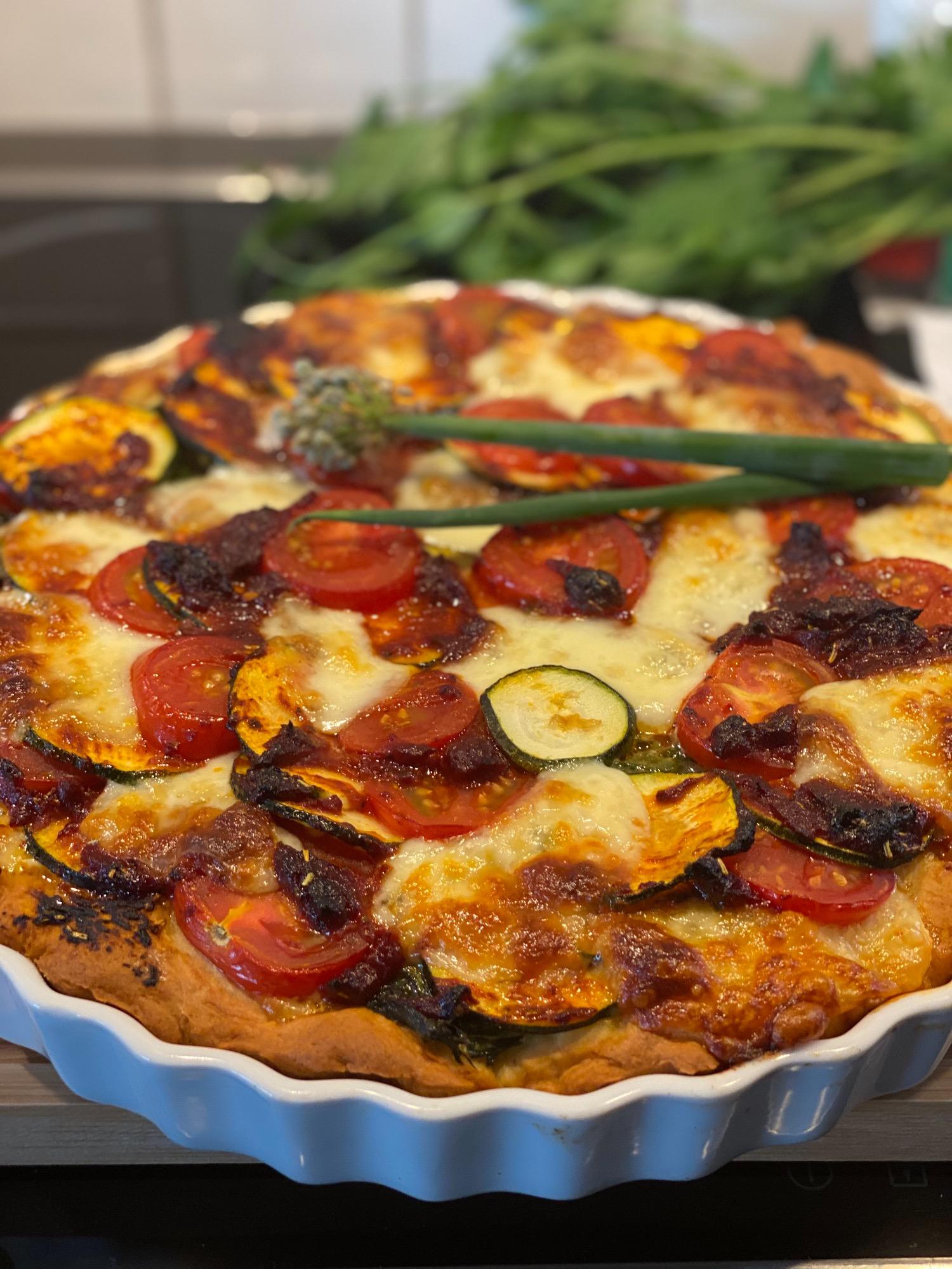 Quiche mit Tomaten-Mangold