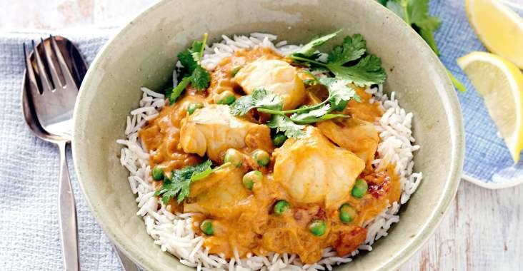 saumon curry et lait de coco