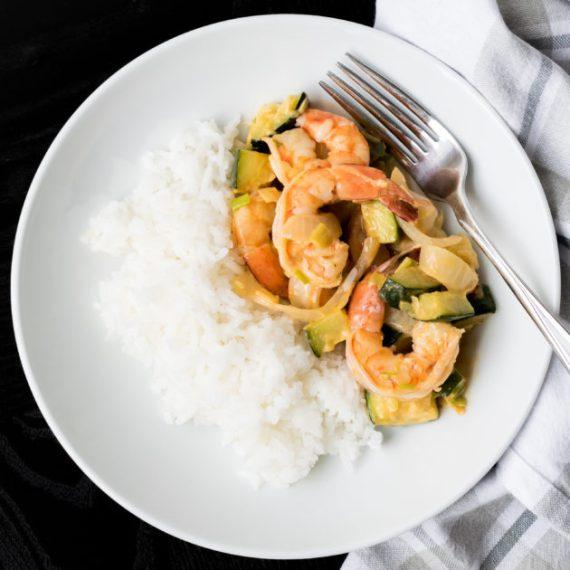 Yum Yum Shrimp with Green Garlic