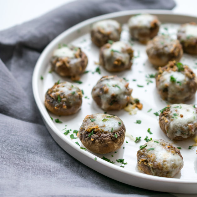 Stuffed Mushrooms with Taleggio