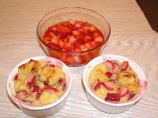 Strawberry Bread Pudding