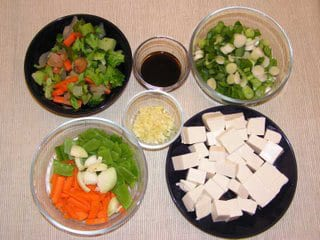 Stir fry Vegetables with Tofu