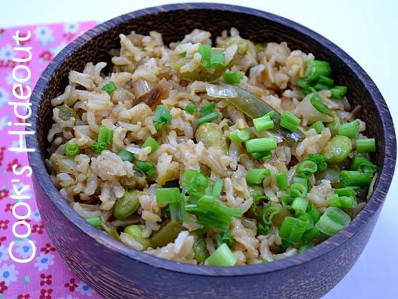 Chinese style Green Rice