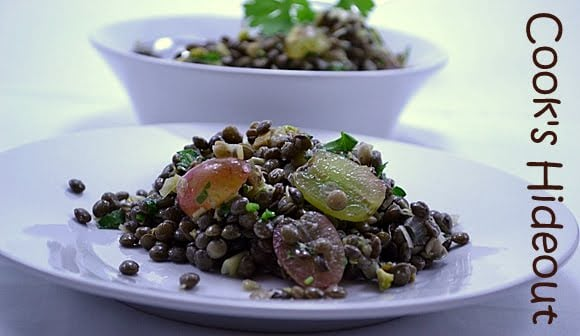 Warm Lentil Salad with Grapes
