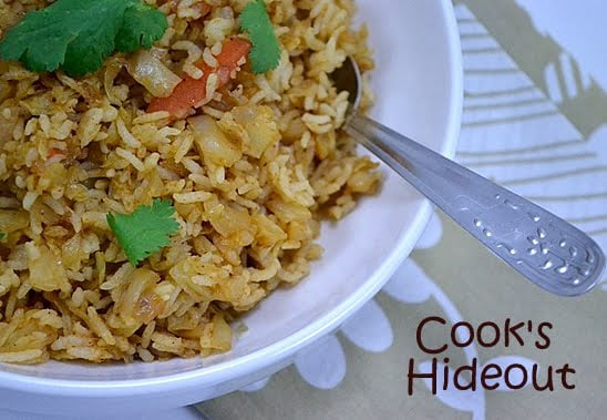 Indian Style Cabbage Rice