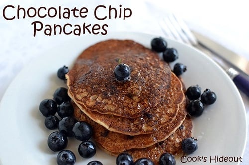 Soyflour-Chocolate Chip Pancakes