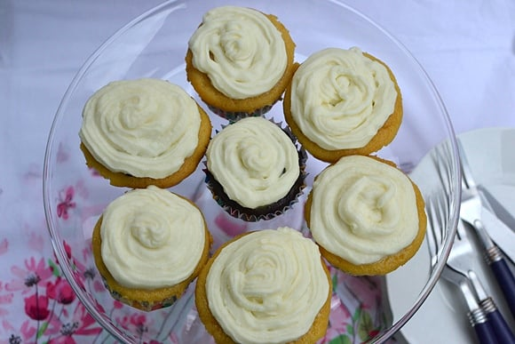 Vanilla Cupcakes made from Cake Mix