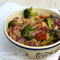 Brown Rice - Vegetable Bowl with Tahini Dressing