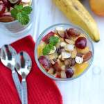 Fruit Salad with Vegan Custard