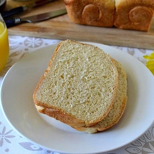 Hokkaido Milk Bread with Tangzhong Starter