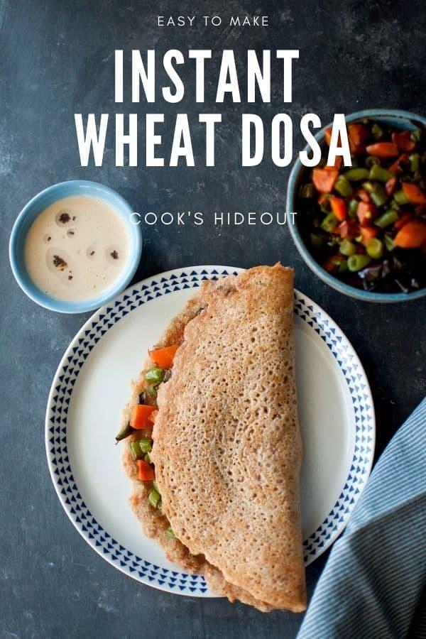 Instant wheat dosa