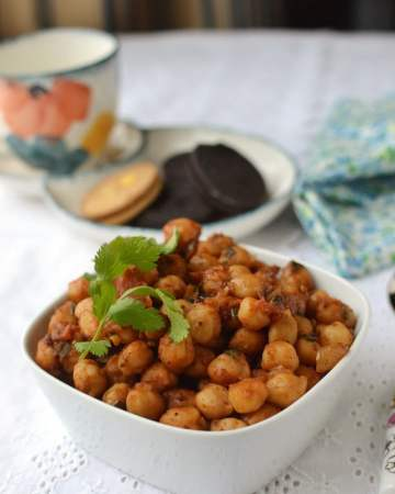Manipuri Spicy Chickpea snack