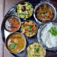 Simple Vegetarian Tamil Nadu Thali