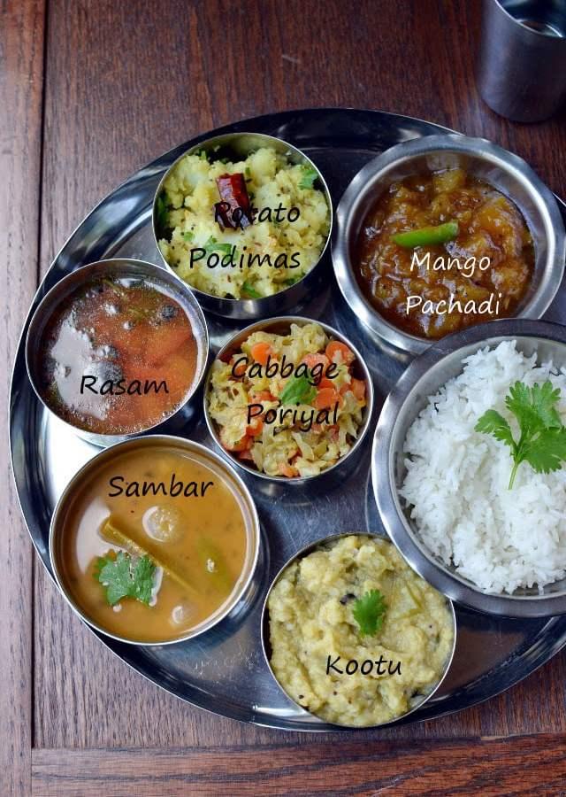 Tamil Vegetarian Thali