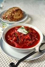Borscht -- Russian Beet & Vegetable Soup
