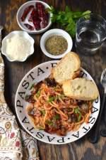 Pasta Alla Norma (Pasta in Spicy Eggplant & Tomato Sauce)