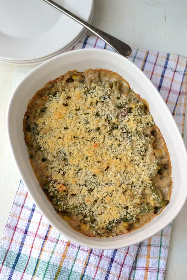 Baked Green bean and corn casserole