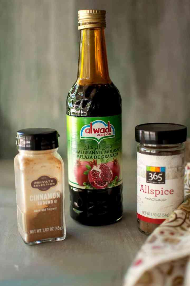 Spices needed - ground cinnamon, allspice, pomegranate molasses