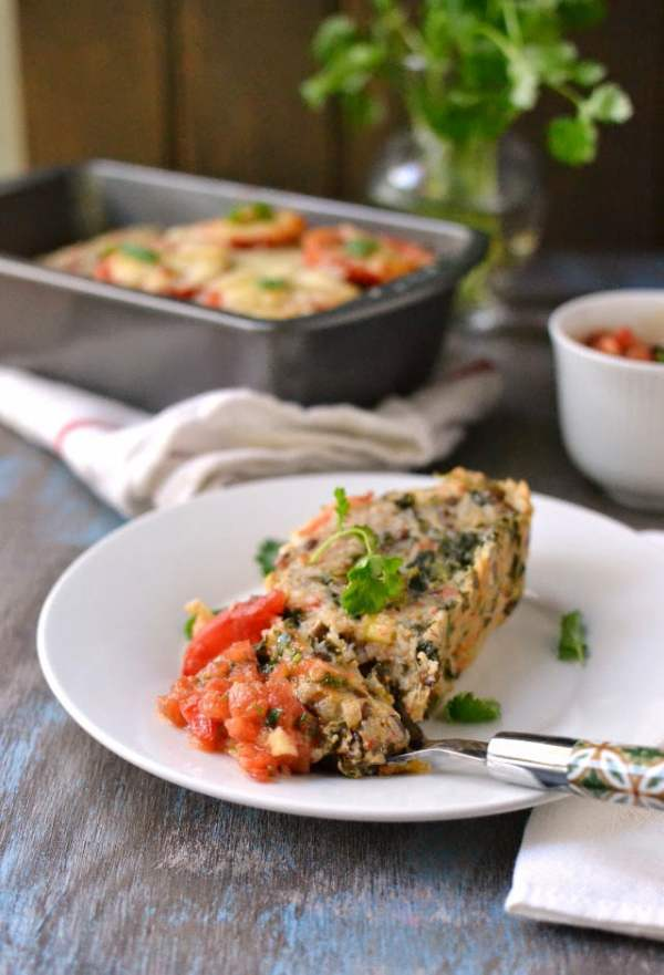 Vegetarian Meatloaf (with Rice & Lentils) with Checca Suace