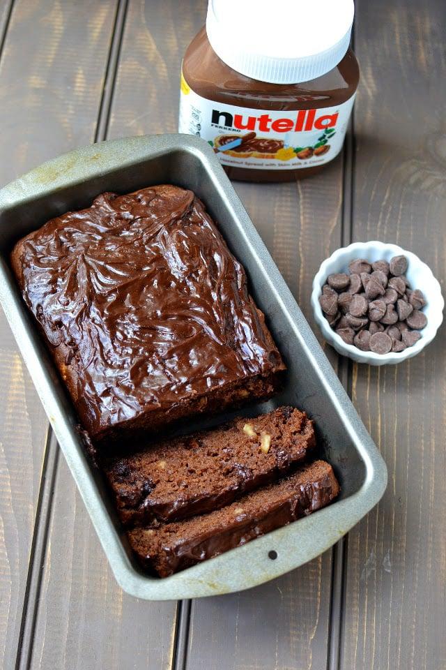 Chocolate Hazelnut Quick Bread (Nutella Chocolate Quick Bread)
