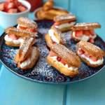 Mini Éclairs with Strawberries & Cream