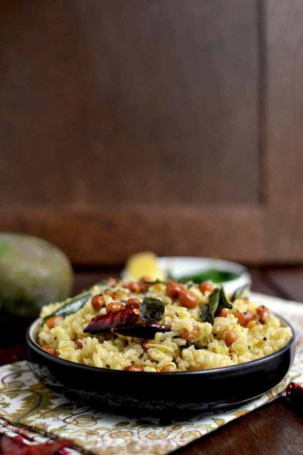 Mango Pulihora with Brown Rice