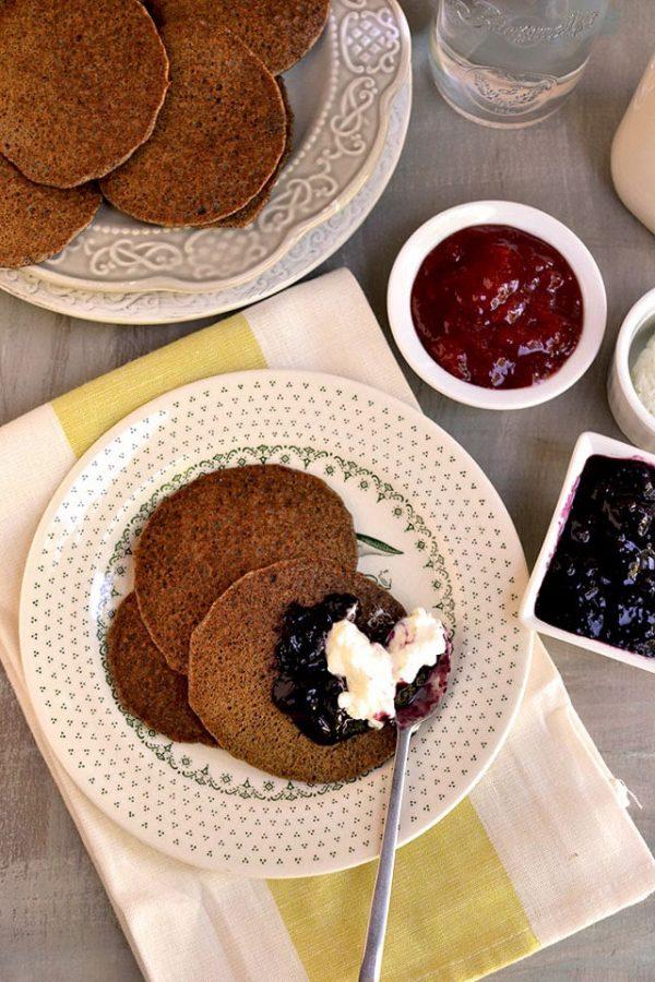 Russian Blinis (Buckwheat Pancakes)