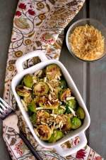 Pan Seared Brussels Sprouts with Toasted Almonds