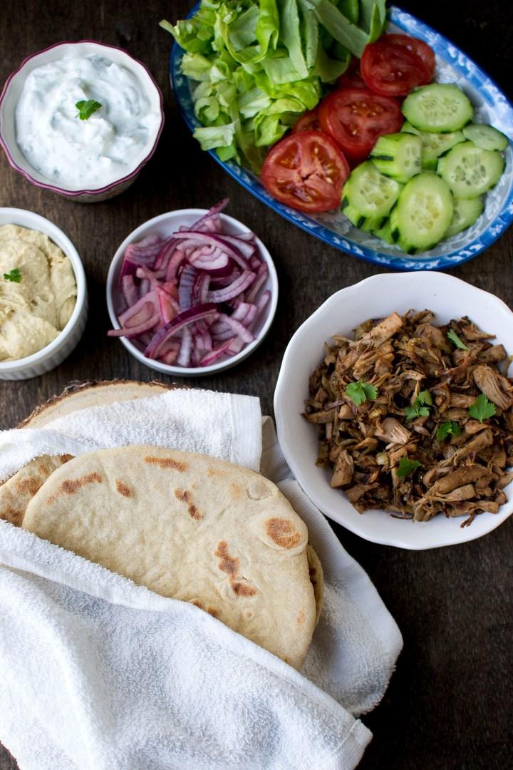 Ingredient photo for Vegetarian gyros