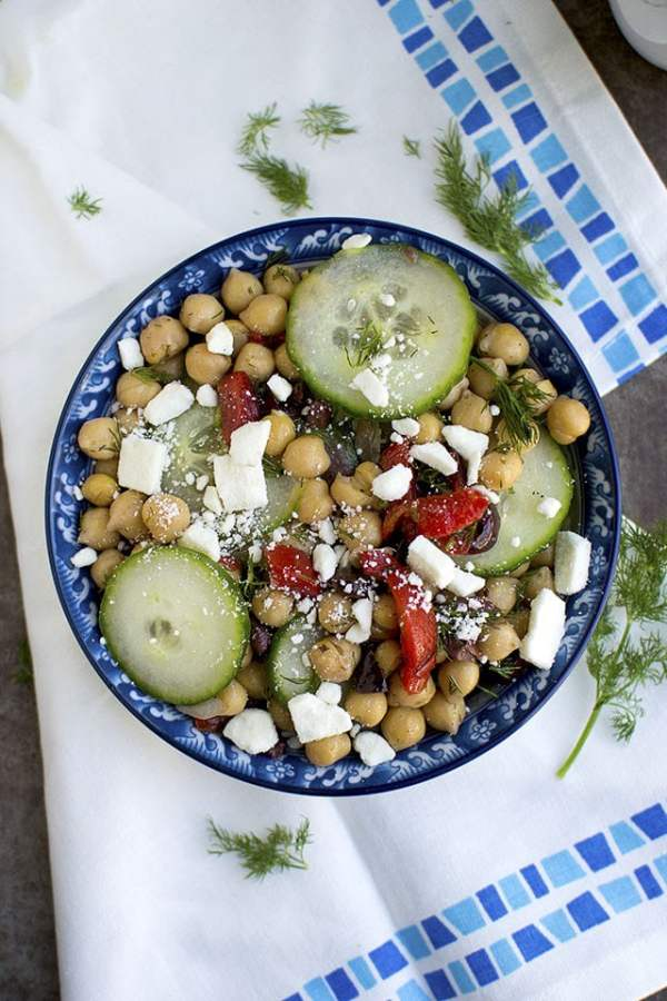 Greek Cucumber & Chickpea Salad