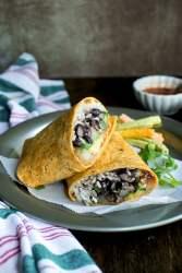 Vegetarian Bean burrito