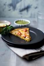 Chickpea flour Pizza with Pesto