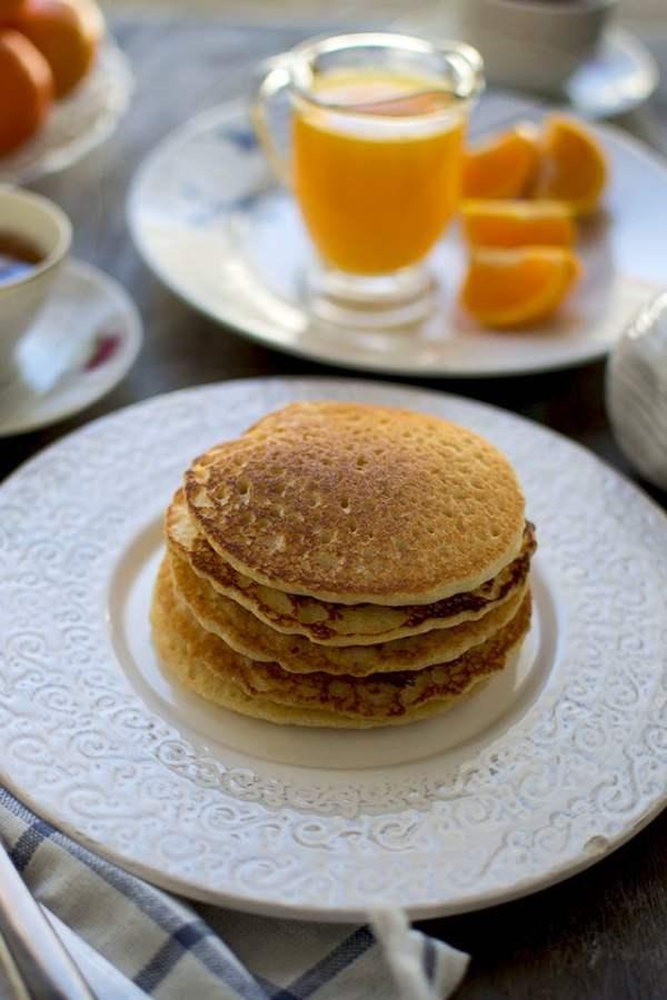 Almond-Orange Pancakes (Gluten free and Vegan)