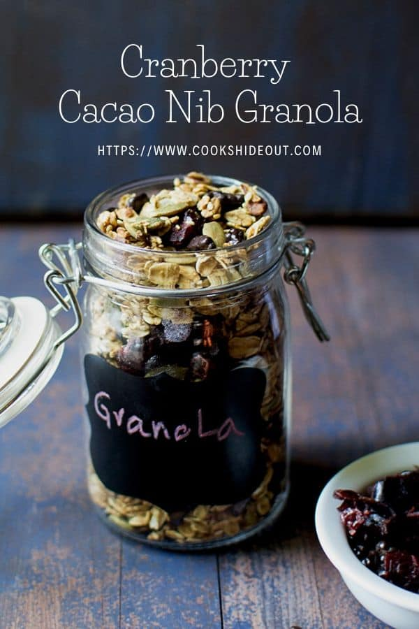 Pin photo of granola in a bottle