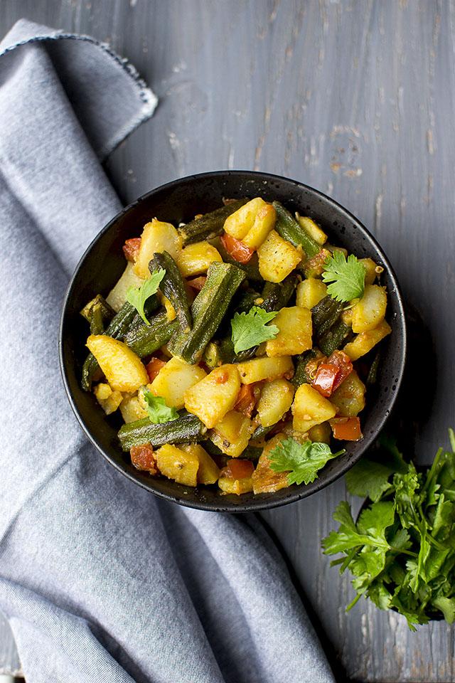 Potato-Okra Curry