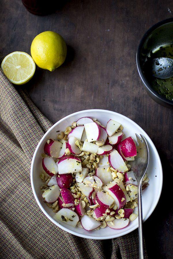 Radish and Peanut Salad (Indian Style)