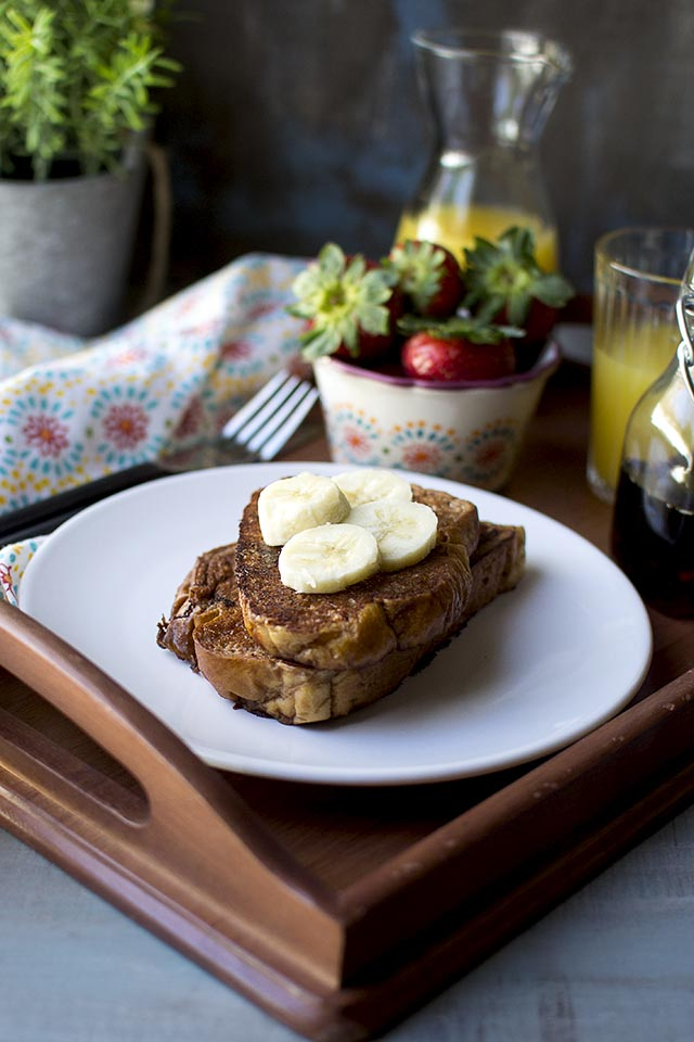 Vegan French Toast with Chocolate
