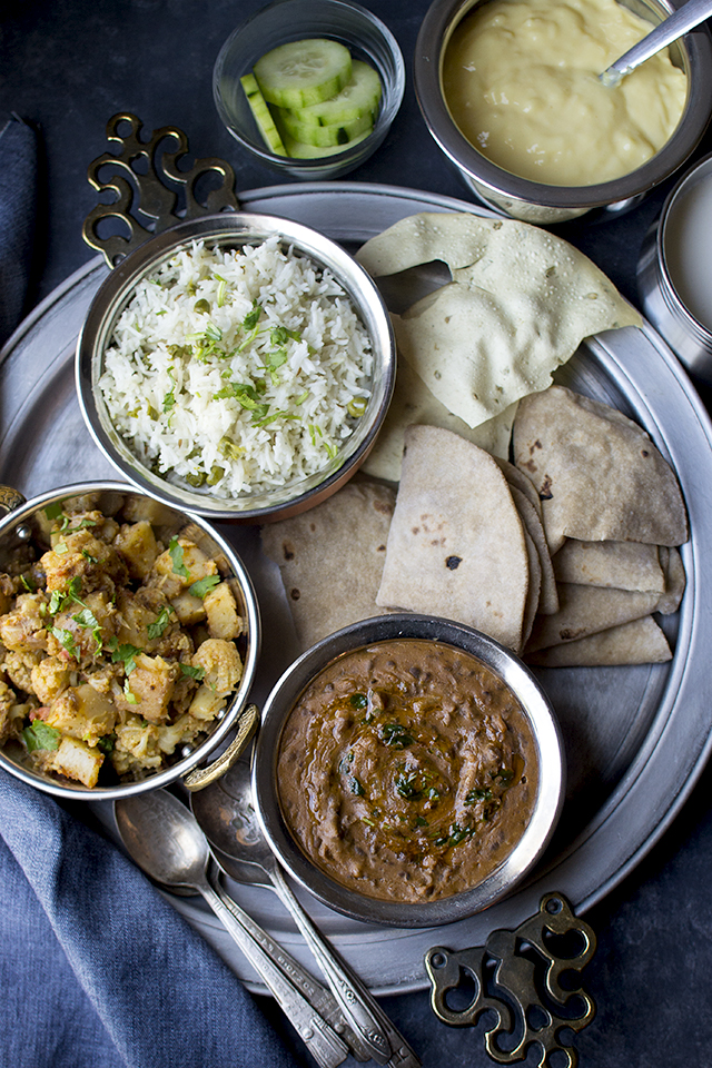 Simple North Indian Lunch Menu