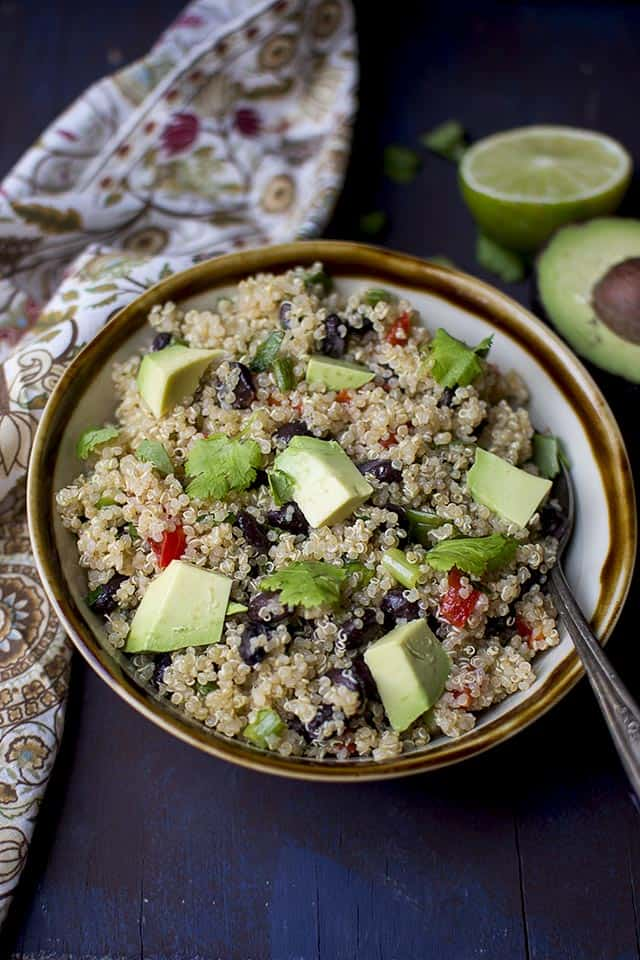 South Western Quinoa Black bean Salad