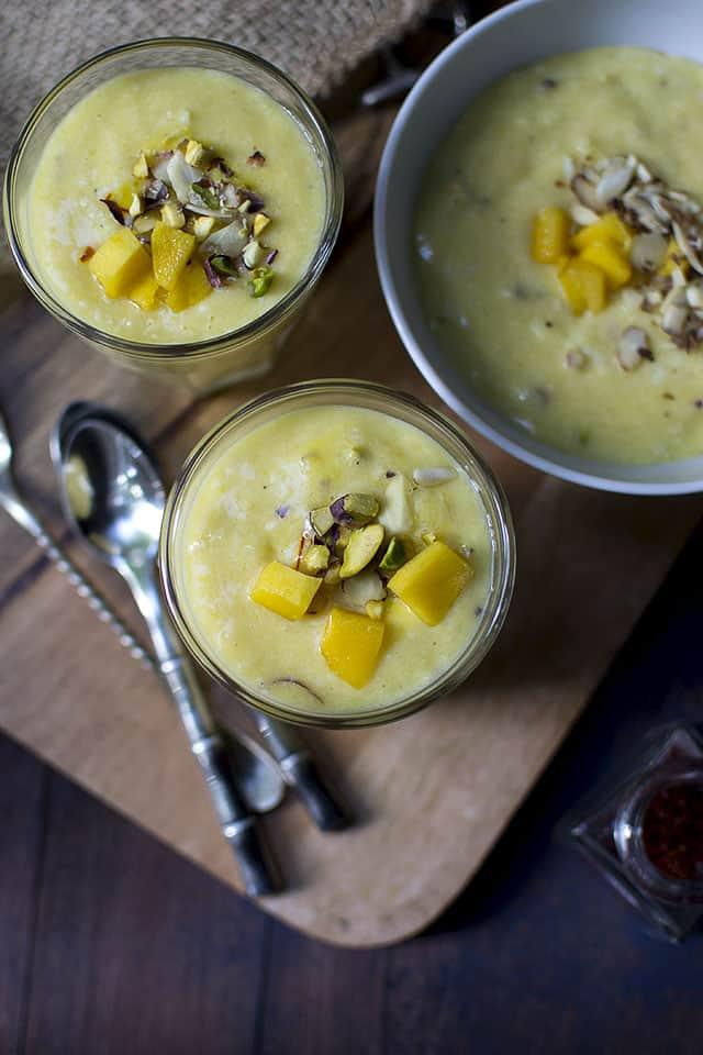 Saffon Mango Rice Pudding