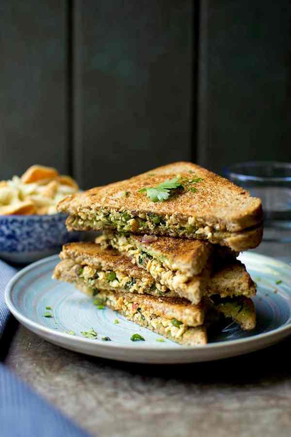 Paneer Spinach Sandwich